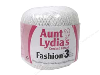 yarn & needlework: Aunt Lydia's Fashion Crochet Thread Size 3 150 yd. #201 White