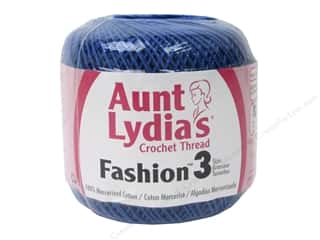 Aunt Lydia's Fashion Crochet Thread Size 3 150 yd. #805 Blue Hawaii