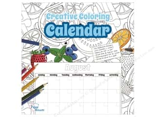 Paper Accents Creative Coloring Monthly Calendar 12 x 12 in.