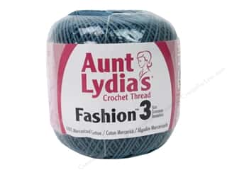 yarn & needlework: Aunt Lydia's Fashion Crochet Thread Size 3 150 yd. #65 Warm Teal