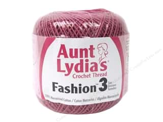 Aunt Lydia's Fashion Crochet Thread Size 3 150 yd. #775 Warm Rose