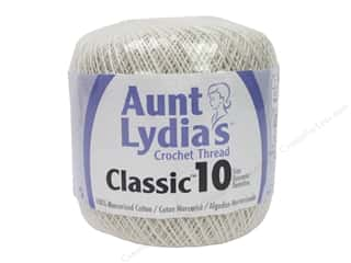 Aunt Lydia's Classic Cotton Crochet Thread Size 10 350 yd. Antique White