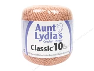 Aunt Lydia's Classic Cotton Crochet Thread Size 10 350 yd. Light Peach