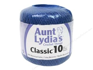 yarn & needlework: Aunt Lydia's Classic Cotton Crochet Thread Size 10 350 yd. Blue Hawaii