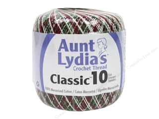 Aunt Lydia's Classic Cotton Crochet Thread Size 10 300 yd. Shaded Christmas