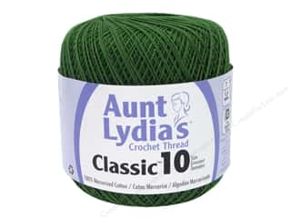 yarn & needlework: Aunt Lydia's Classic Cotton Crochet Thread Size 10 350 yd. Myrtle Green
