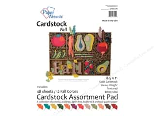 fall sale: Paper Accents 8 1/2 x 11 in. Cardstock Pad 48 pc. Fall