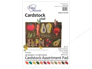 fall sale: Paper Accents 5 x 7 in. Cardstock Pad 48 pc. Fall