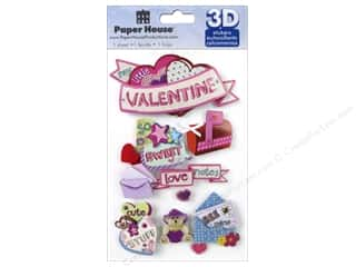 stickers: Paper House Sticker 3D Little Valentine