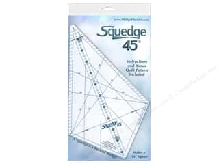 quilt rectangular square ruler: Phillips Fiber Art Ruler Squedge 45 deg.