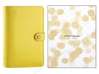 Webster's Pages Color Crush Personal Planner Binder Yellow