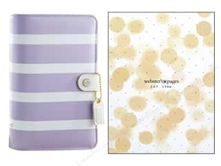 binders: Webster's Pages Color Crush Personal Planner Binder Lavender Stripe