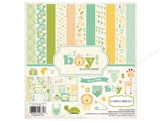 Holiday Sale Printed Cardstock: Carta Bella 12 x 12 in. Collection Kit It's A Boy