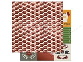 helmet: Echo Park 12 x 12 in. Paper Football Collection Small Footballs (15 sheets)