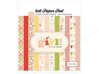 Stock Up Sale Safety Pins: Carta Bella 6 x 6 in. Paper Pad It's A Girl