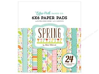 Spring Printed Cardstock: Echo Park Paper Pad 6 x 6 in. Spring Collection