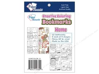 Bookmarks: Paper Accents Creative Coloring Bookmarks 12 pc. Home