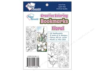 Bookmarks: Paper Accents Creative Coloring Bookmarks 12 pc. Floral