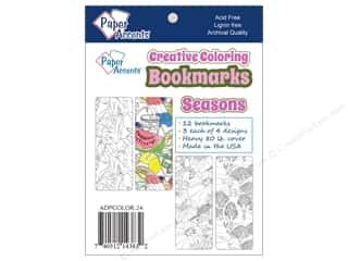 Bookmarks: Paper Accents Creative Coloring Bookmarks 12 pc. Seasons