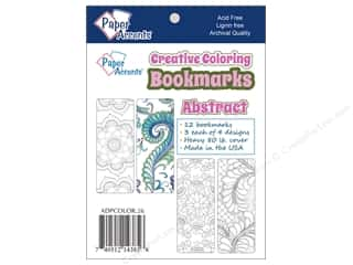 Bookmarks: Paper Accents Creative Coloring Bookmarks 12 pc. Abstract