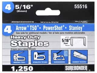 "Surebonder Staples Heavy Duty 4#  5/16"" 1250pc"