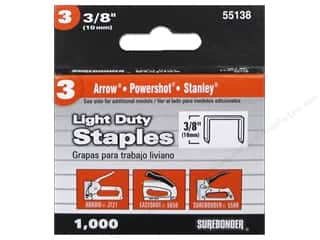 "craft & hobbies: Surebonder Staples Light Duty #3 3/8"" 1000pc"