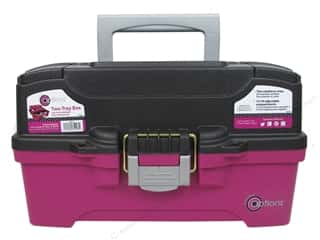 Creative Options Two-Tray Box Magenta & Grey