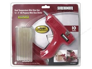 Hot glue gun and glue sticks: Surebonder Glue Gun Mini Dual Temp Kit 10 Watt