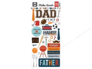 Echo Park Sticker 6 x 12 in. Team Dad (15 sets)
