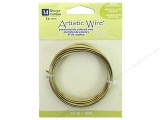 beading & jewelry making supplies: Artistic Wire 14 ga. Wire 10 ft. Non Tarnish Brass