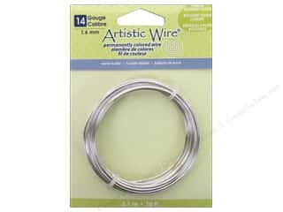 beading & jewelry making supplies: Artistic Wire 14 ga. Copper Wire 10 ft. Non Tarnish Silver Plated