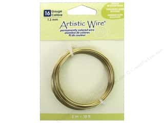 16 gauge wire: Artistic Wire 16 ga. Wire 10 ft. Non Tarnish Brass