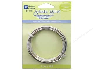 beading & jewelry making supplies: Artistic Wire 12 ga. Copper Wire 10 ft. Non Tarnish Silver Plated