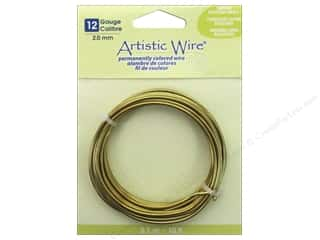 craft & hobbies: Artistic Wire 12 ga. Wire 10 ft. Non Tarnish Brass