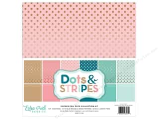 scrapbooking & paper crafts: Echo Park 12 x 12 in. Collection Kit Dots & Stripes Copper Foil