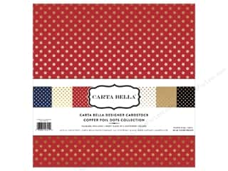scrapbooking & paper crafts: Carta Bella 12 x 12 in. Collection Kit Dots Copper Foil