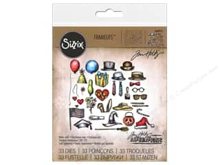 Sizzix Dies Tim Holtz Framelits Crazy Things 33pc