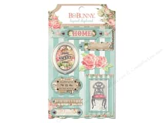 Chipboard Shapes  Flowers: Bo Bunny Layered Chipboard Stickers Soiree