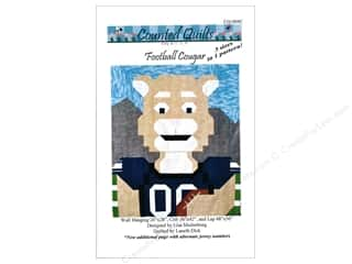 books & patterns: Counted Quilts Football Cougar Quilt Pattern