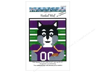 books & patterns: Counted Quilts Football Wolf Quilt Pattern