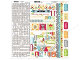 stickers: Bo Bunny Stickers Toy Box Combo (12 sheets)