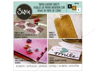 Sizzix Paper Leather Sheets 6 x 6 in. 20 pc. Assorted Basics