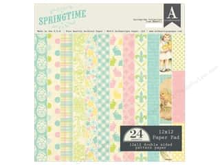 Spring Printed Cardstock: Authentique 12 x 12 in. Paper Pad Springtime Collection