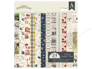 Holiday Sale Designer Papers & Cardstock: Authentique 12 x 12 in. Paper Pad Homestead