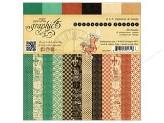 Fall Sale Graphic 45: Graphic 45 6 x 6 in. Paper Pad Enchanted Forest Patterns & Solids