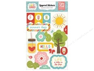 Summer Fun: Echo Park Collection Happy Summer Stickers Layered