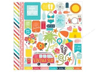 Echo Park Sticker 12 x 12 in. Summer Party Collection Element (15 sheets)