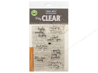 Clearance: Hero Arts Poly Clear Stamp You Are My Happy