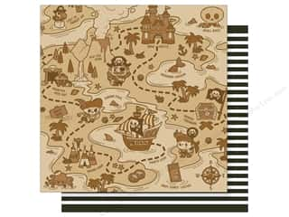 Imaginisce 12 x 12 in. Paper Party Me Hearty Treasure Map