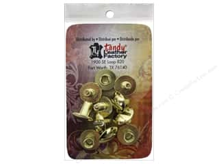 craft & hobbies: Leather Factory Chicago Screw Post 1/4 in. Solid Brass 10 pc.